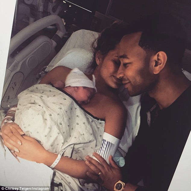 Chrissy Teigen Shares Sweet Photo Of Herself And John Legend After Birth Of Daughter Luna