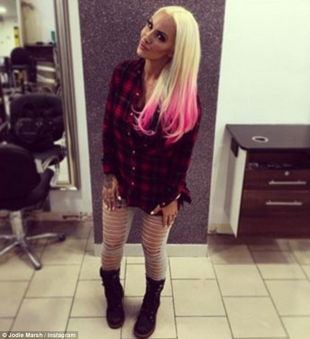 Jodie Marsh Shows Off her New Dip-Dyed Pink Hair