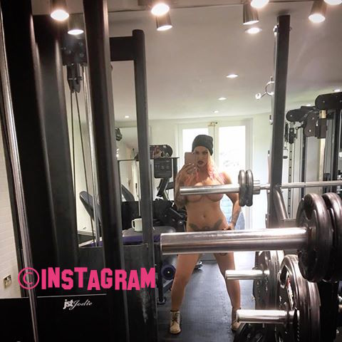 Jodie Marsh Goes Naked In The Gym While Working Out