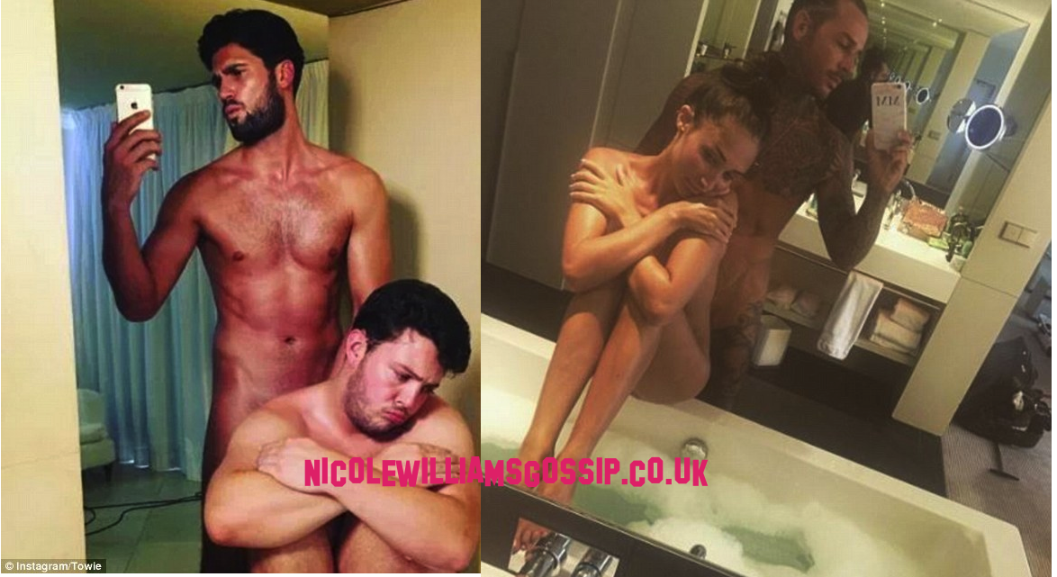 TOWIE's Dan Edgar and Diags Strip Naked To Copy Megan McKenna And Ex Boyfriend Pete Wicks Online Snap