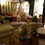 Jodie Marsh decorates her house with lots of festive decorations