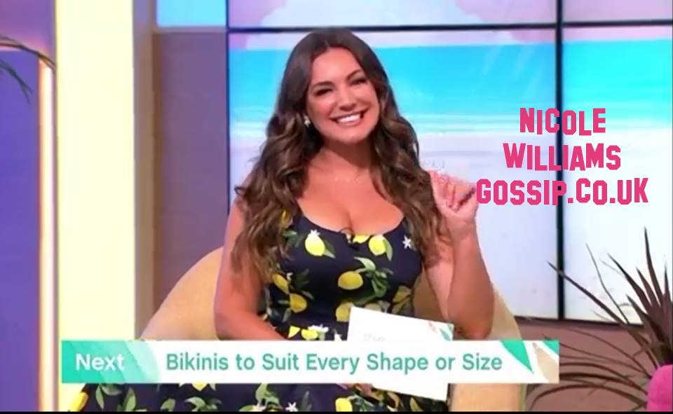 Kelly Brook Puts On A Busty Display Live On This Morning While Presenting Swimwear Items