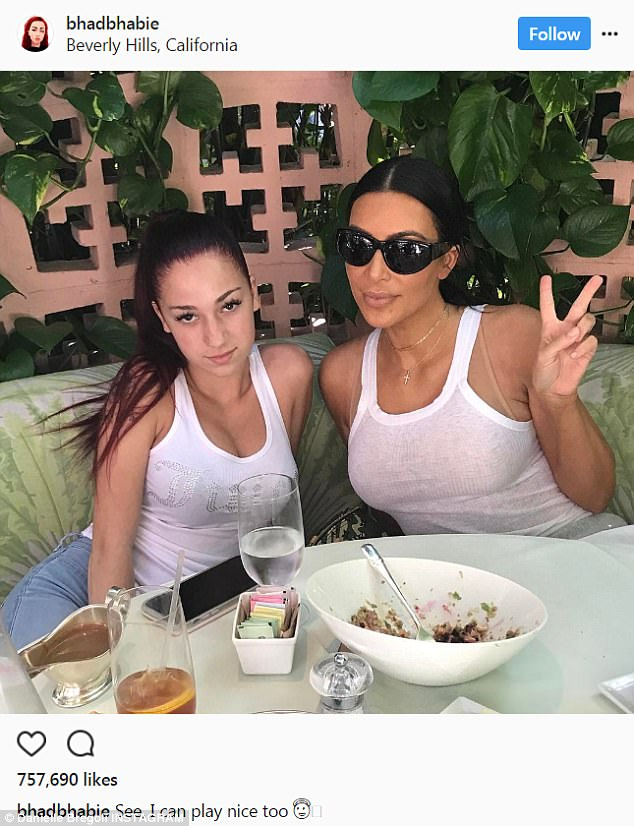 Kim Kardashian Cosies Up With The Catch Me Outside Girl As They Enjoy Lunch Together