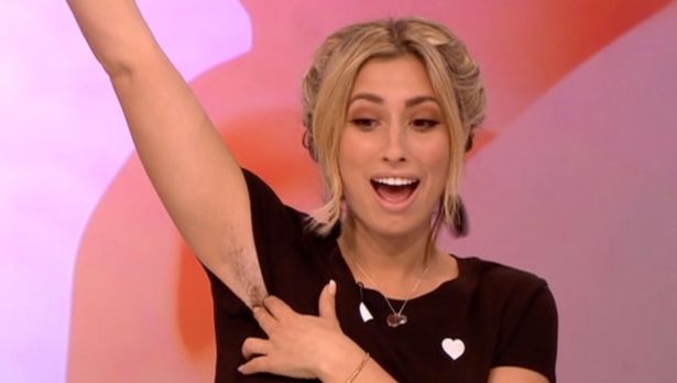 Stacey Solomon Flashes Under Arm And Leg Hair As She Quits Shaving For November
