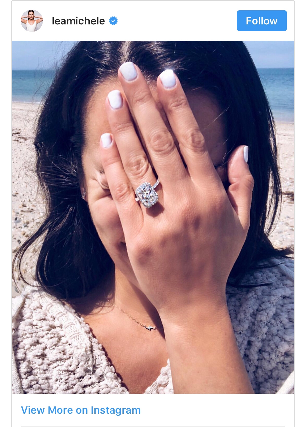 Lea Michele Shows Off Her 4CT Engagement Ring As Boyfriend Zandy ...